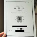 小学4年生2学期終業式(修了式)の通信表とサプライズ