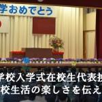 入学式の在校生代表歓迎挨拶は学校生活の楽しさを伝える挨拶